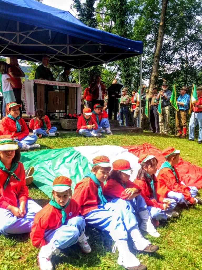 Il giovani Garibaldini alle cerimonie del 150. anniversariod ella Battaglia di Bezzecca - PH NIcer
