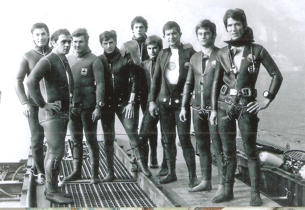 SOMMOZZATORI RIVA 1970.sub che posero il primo Cirsto silente