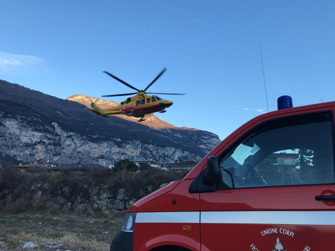 elicottero malore ceniga dro IMG-20200117-WA0008