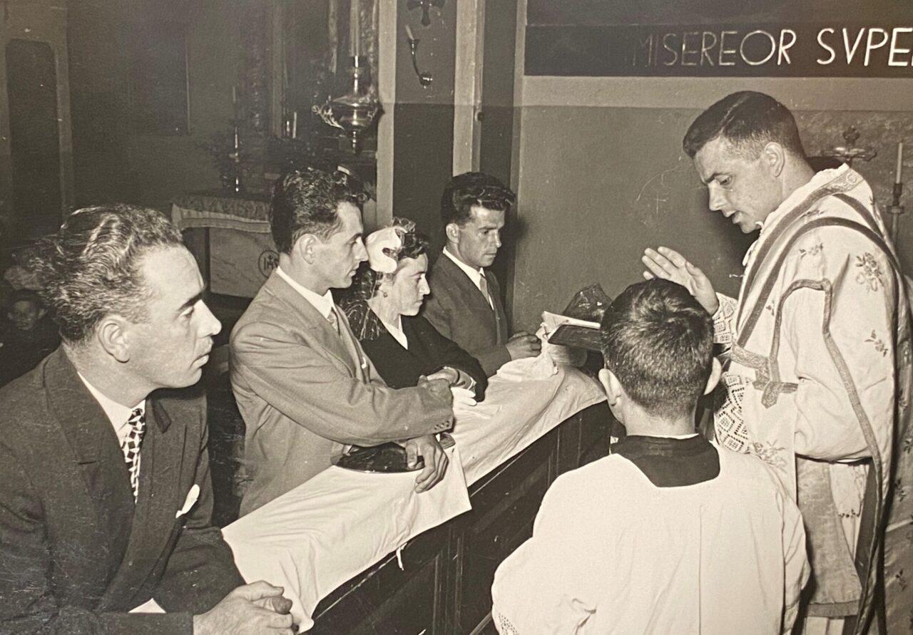 FIORELLA BRESCIANI E GABRIELE CRETTI MATRIMONIO 17-09-1955