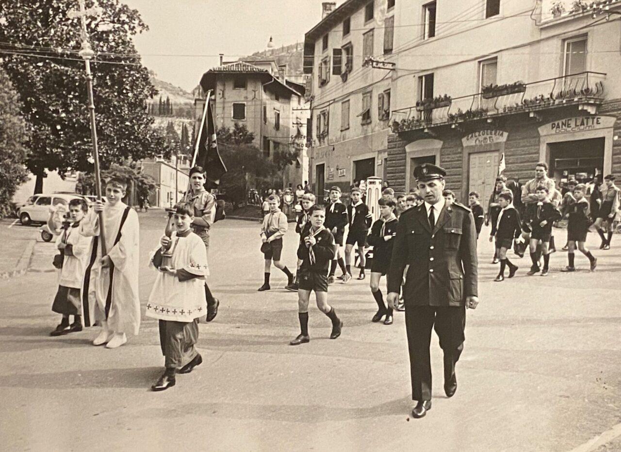 FIORELLA BRESCIANI E GABRIELE CRETTI papà Gabriele Cretti vigile anni 70
