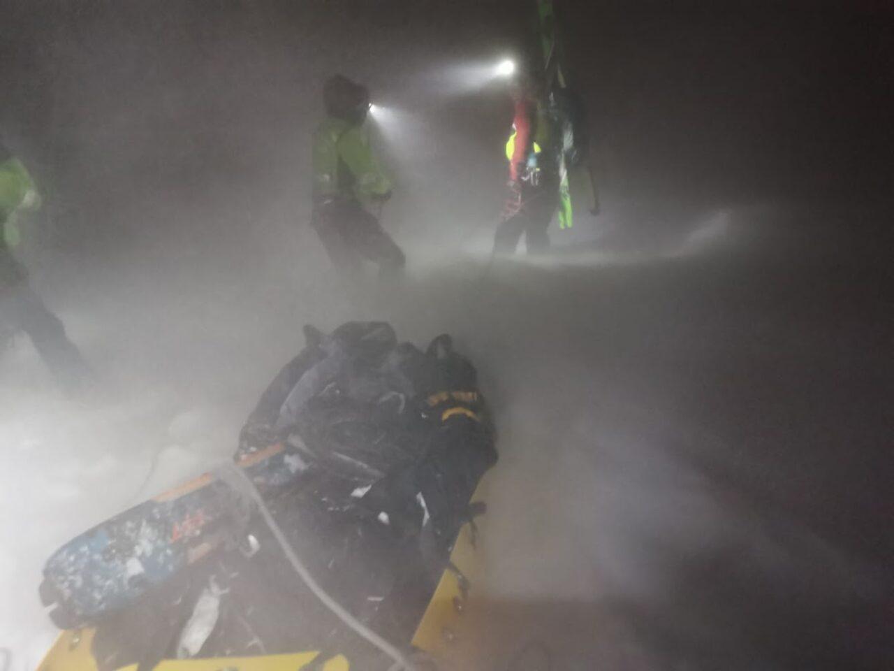 soccorso alpino intervento monte Bondone