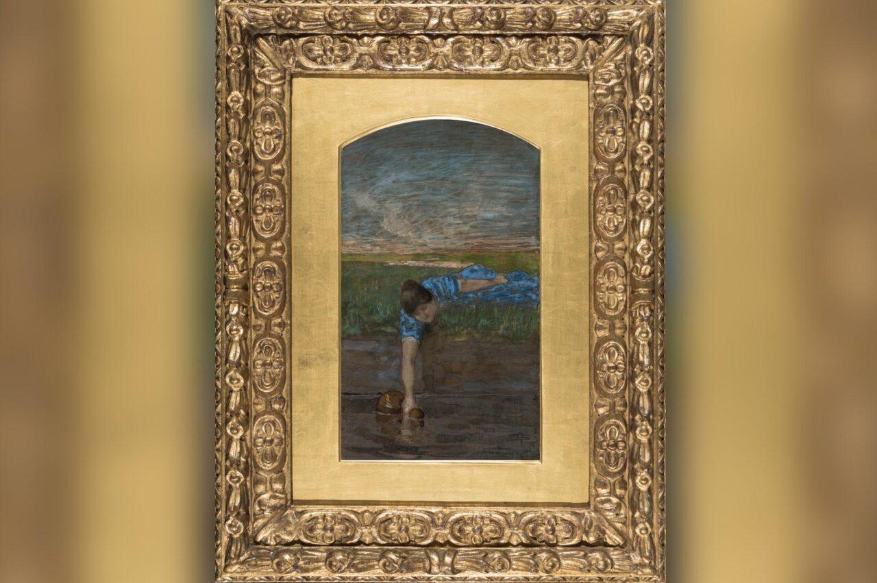 Segantini - La pompeiana con cornice alta c