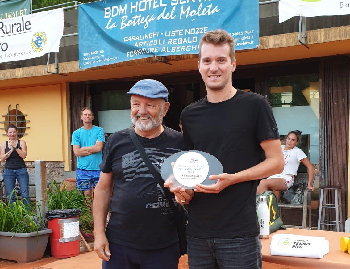 tennis riva Vincitore Lotti con Mosele